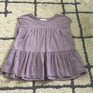 Velvet for Anthro lilac ruffle top